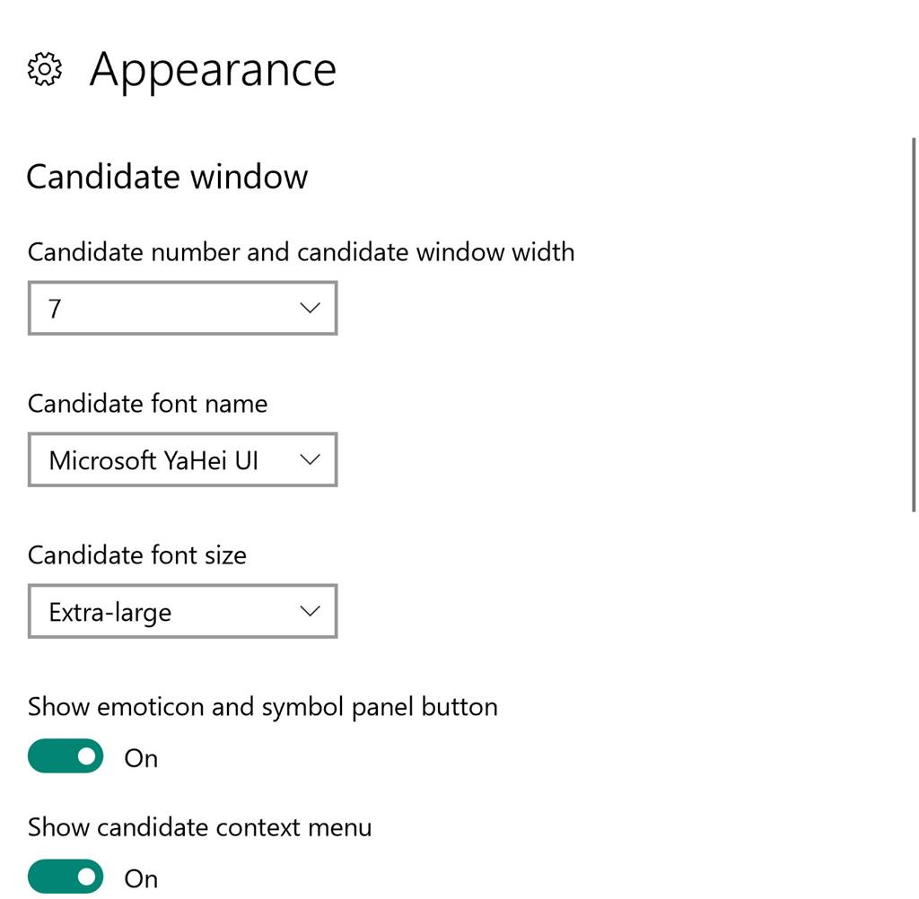 While typing with Microsoft Pinyin, I cannot see any candidates characters, the pop-up... b5f31310-8e6d-4e20-ac4e-51819eb6f9b3.jpg