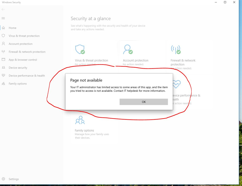 After 1903 Update keep getting Windows Security IT ERROR message b7a3634e-352b-445a-bf5e-cefe9a94628b?upload=true.jpg