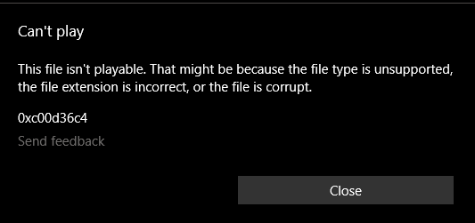 After 1903 update, ramdom mp4 files  can't play b7f1c813-cd2a-4f4a-8000-16d67bc0f1a0?upload=true.png