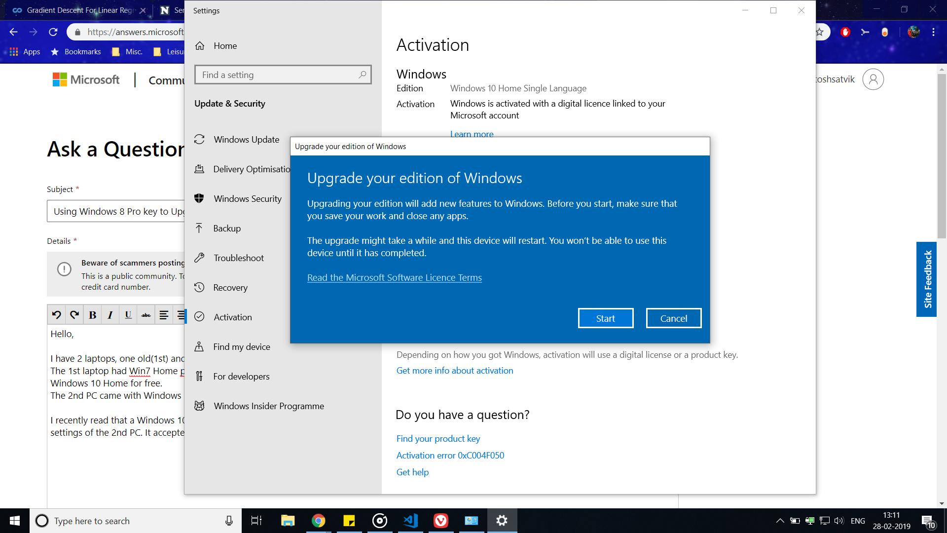 Using Windows 8 Pro key to Upgrade to Windows 10 Pro from Home b8b4dc3e-e56f-4958-94f1-ef07a68d3448?upload=true.png