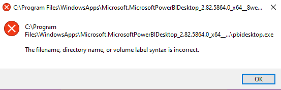 getting this message after launching power BI and some other apps b9595504-d813-4142-8230-8d3cafaf2531?upload=true.png