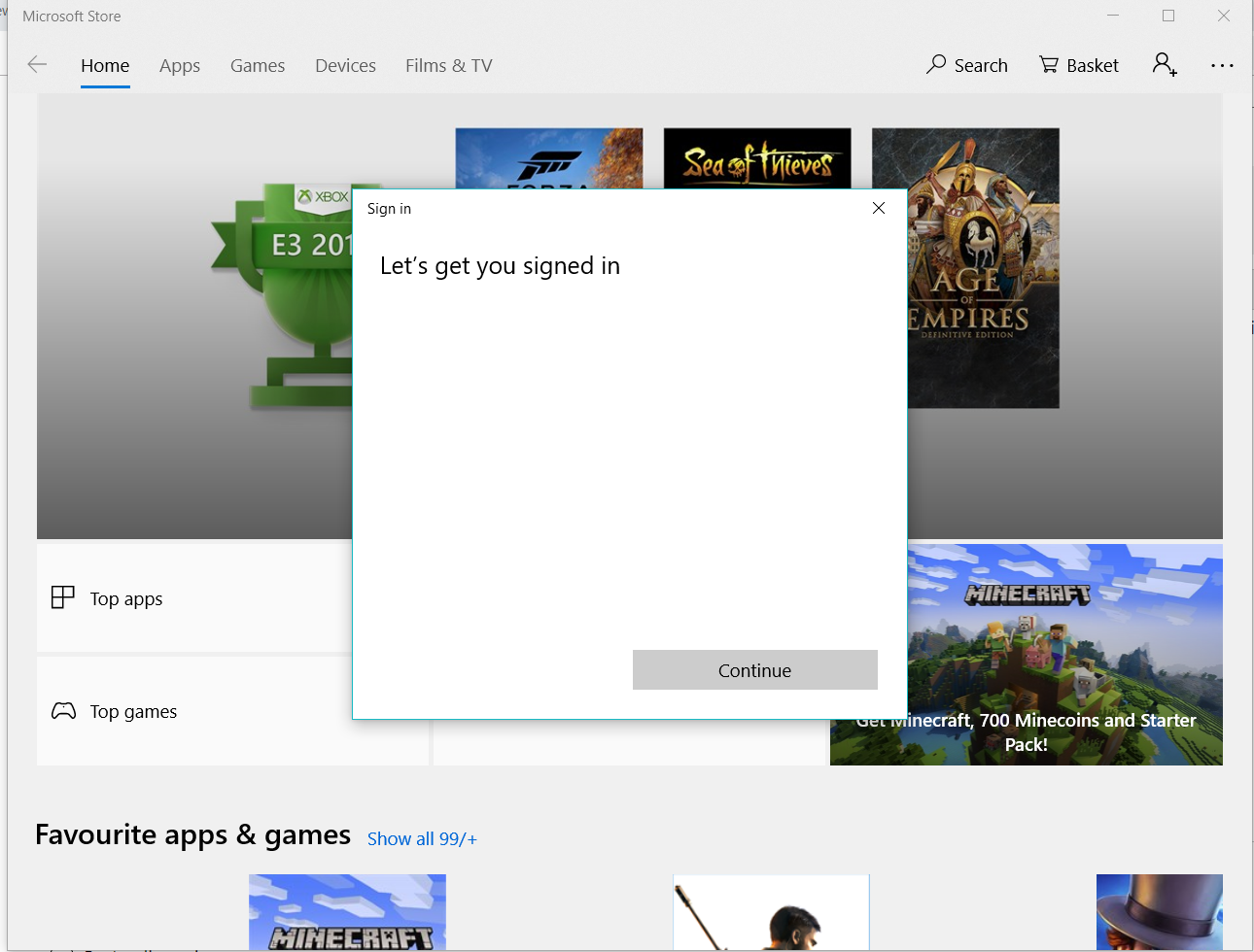 Can't sign into windows store or add fingerprint