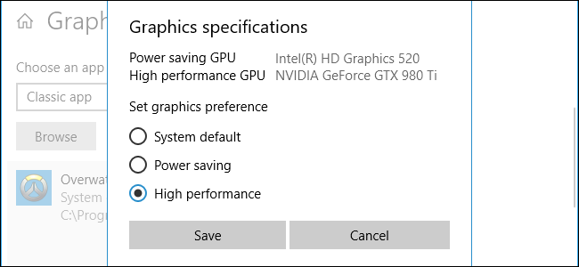Can't change my default GPU to Dedicated GPU