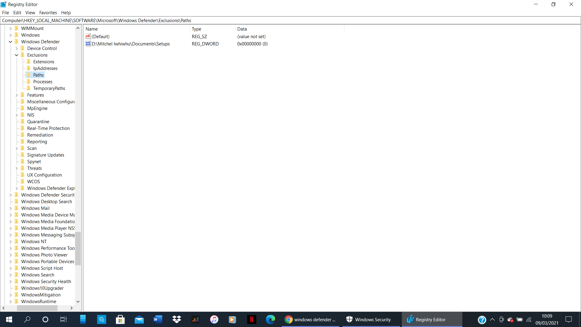 Windows Defender showing a list of greyed out Exclusions, but they don't show in the list... bafef710-bba2-4df7-a66b-538ed2eff3ad?upload=true.png