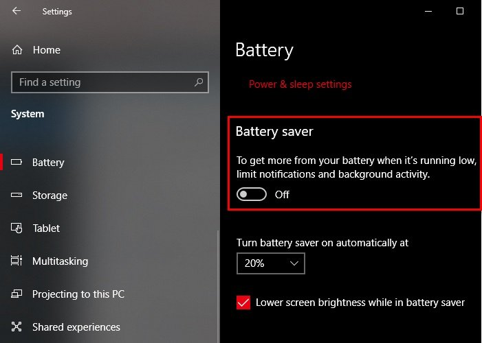 How to Enable or Disable Battery Saver In Windows 10 battery-saver-settings.jpg