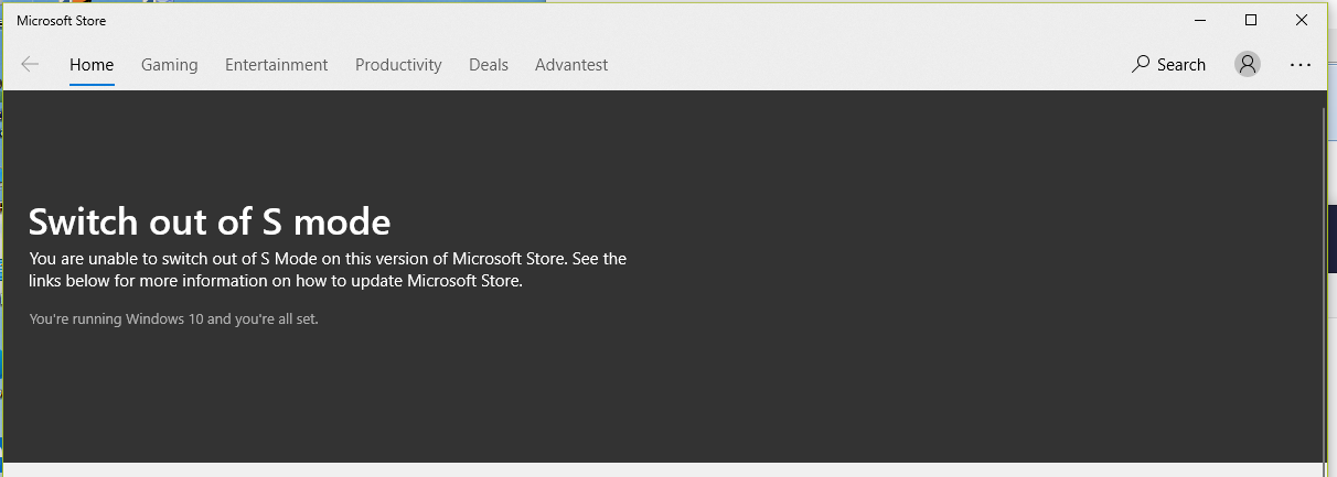 Unable to turn off Windows S Mode bb64932b-afcf-446d-a6ea-c95f28f82dab?upload=true.png