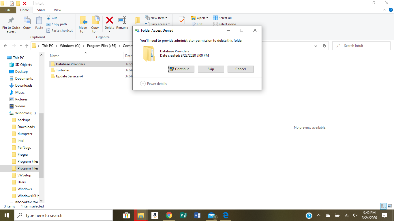 I get this dialogue box when I try to delete these file folders. be5ba6a0-dab5-4cb2-9c93-7aef5f9220b6?upload=true.png