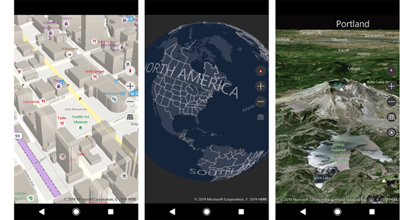 Mixed Reality Map Control, iOS & Android Controls preview & MIO API BingMapsNativeControl_Screenshots.png