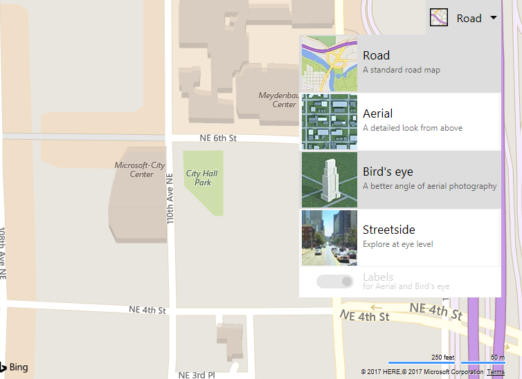 Bing Maps SDK Public Preview for Android and iOS Launches Today BirdseyeButton.png