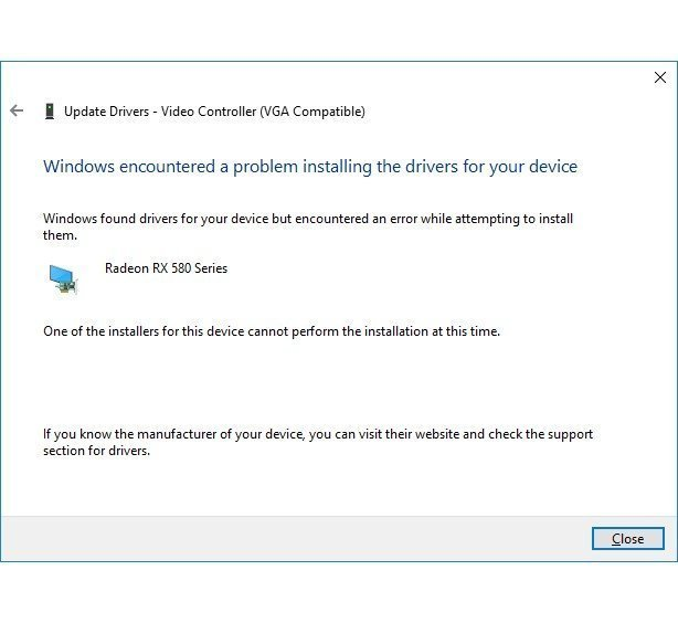Cannot install GPU device drivers. One of the installers for this device cannot perform the... c0c1fb3c-7494-4881-bcd6-dae139174ae1?upload=true.jpg