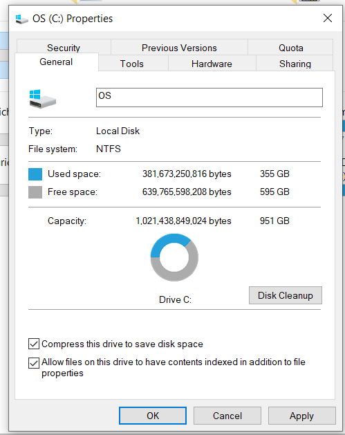 Compress drive C is checked with the last update September 8, 2020—KB4571756 OS Build 19041.508 c4159767-7ef6-45cb-be2f-1654c9f8d4ea?upload=true.png