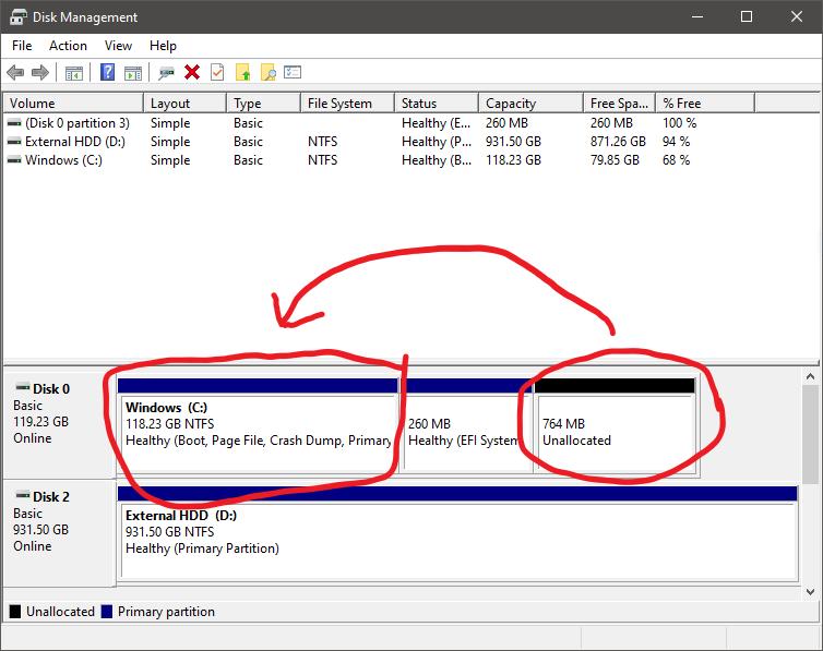 How do I merge these two volumes? c4826082-f1cc-4fd7-b3b6-c84d0772cfba?upload=true.png