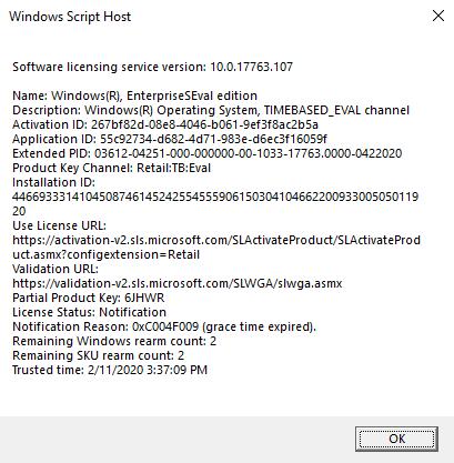 Windows 10 License Activation For Enterprise Ltsc Evaluation Vm