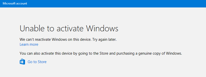 how to reactivate windows after hardware change