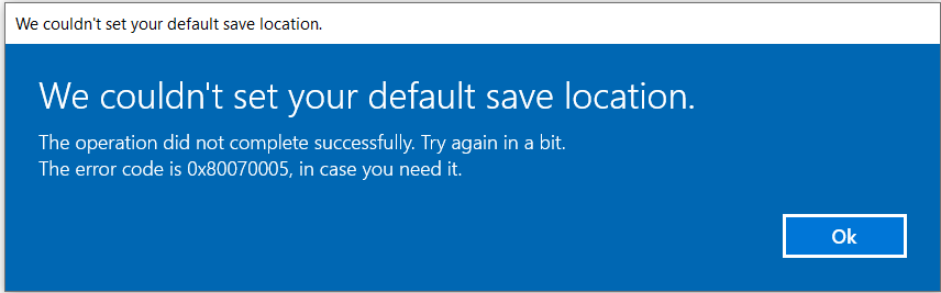 """Can't change the save location of Win 10 store, and no response when clicking """"Install"""" c8d1269b-a239-44cc-ae90-1ee961363b9d?upload=true.png"""