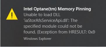Getting Intel Optanetm Memory Pinning error with update version 2004 cadc00ed-462a-49dd-9800-dd9c3a6234e4?upload=true.jpg