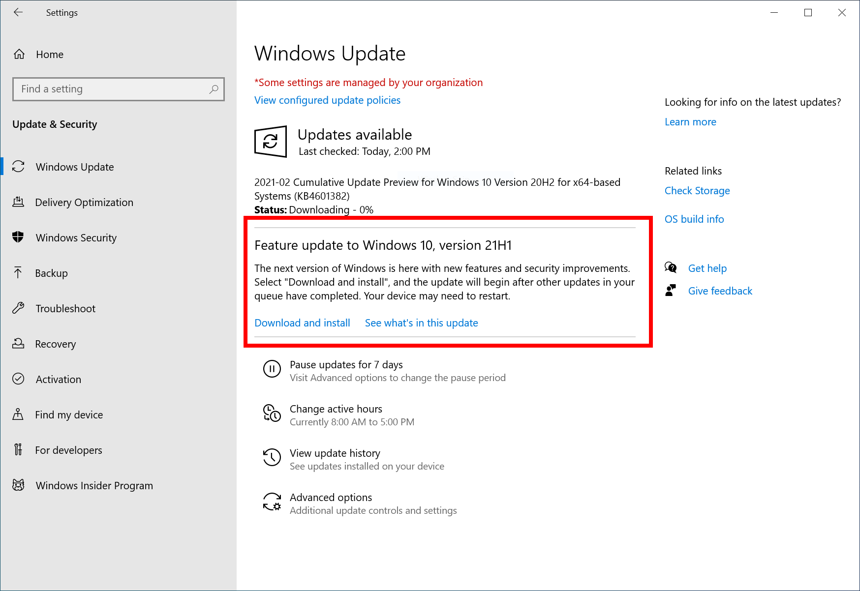 KB5000736 Featured update Windows 10 version 21H1 enablement package Capture.png