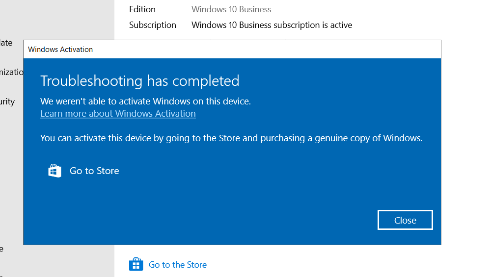 Activate Windows 10 problem, I have subscription for Microsoft 365