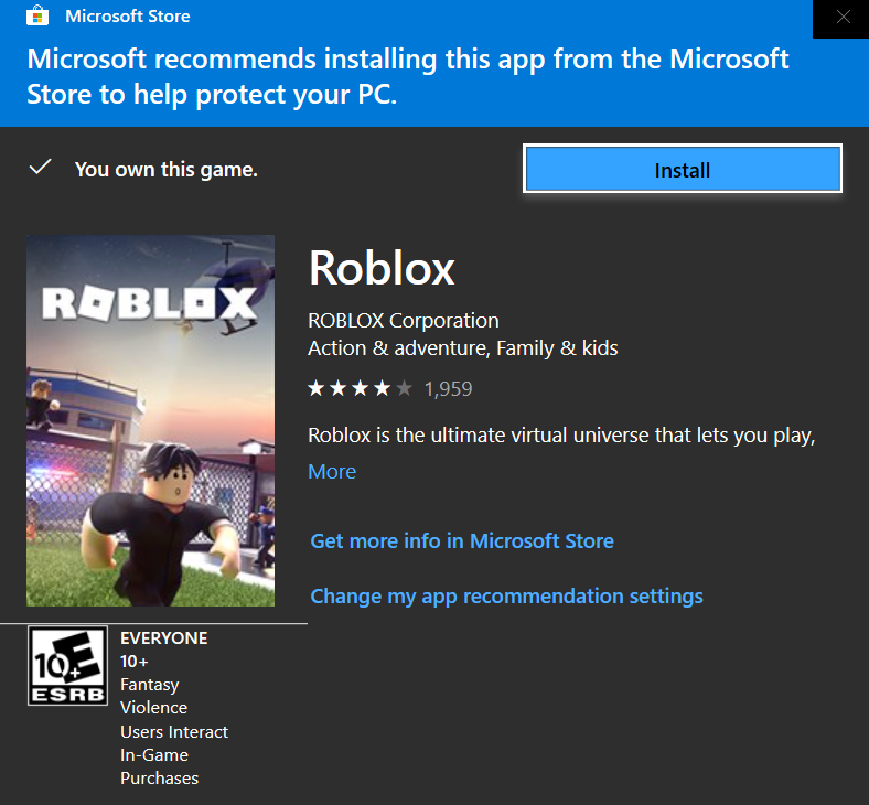 Microsoft store opening when I try to download Roblox! cf195b28-77dd-4ad9-b5f8-713fbac2a7f6?upload=true.png