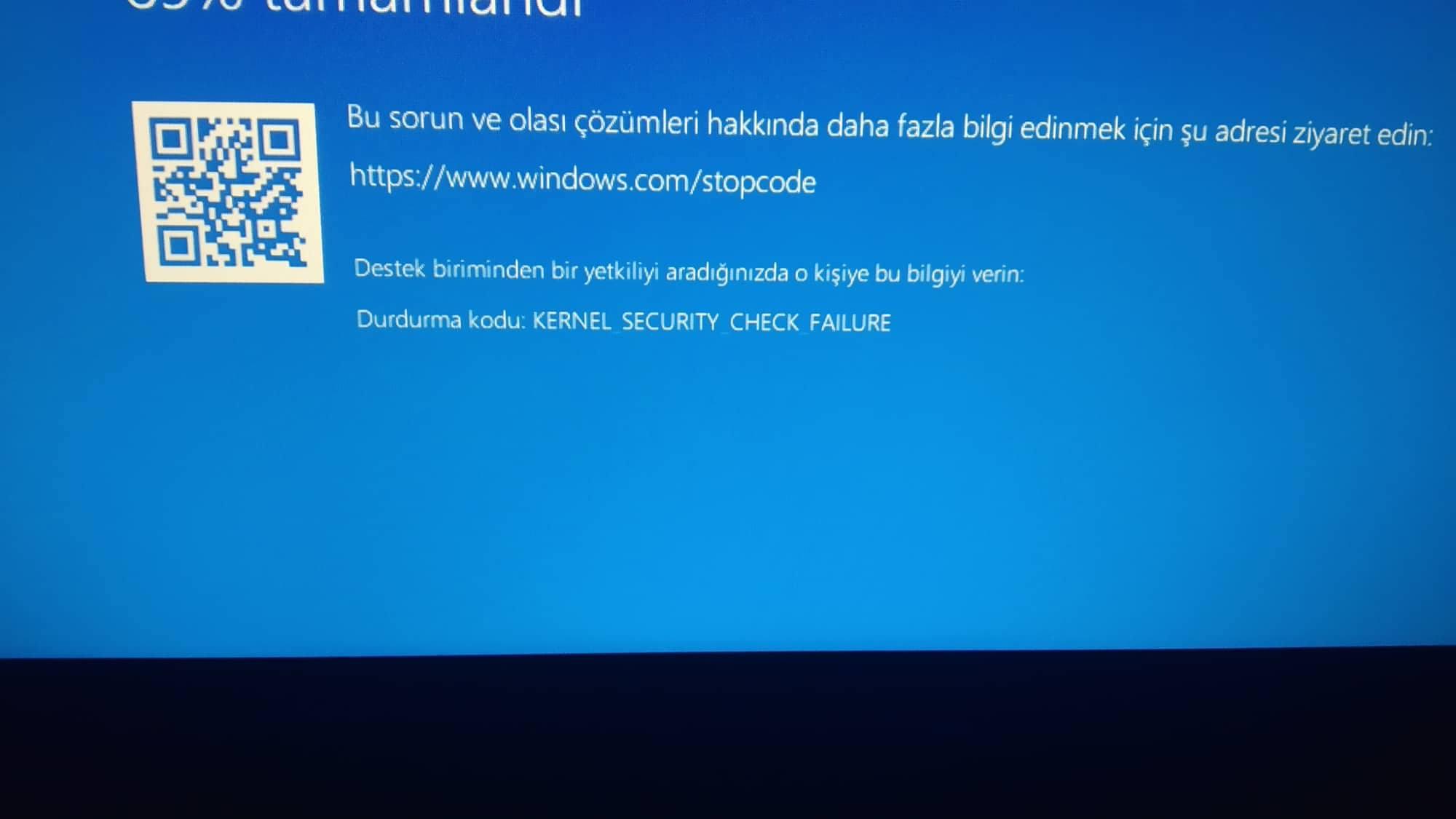 windows stop code kernel security check failure