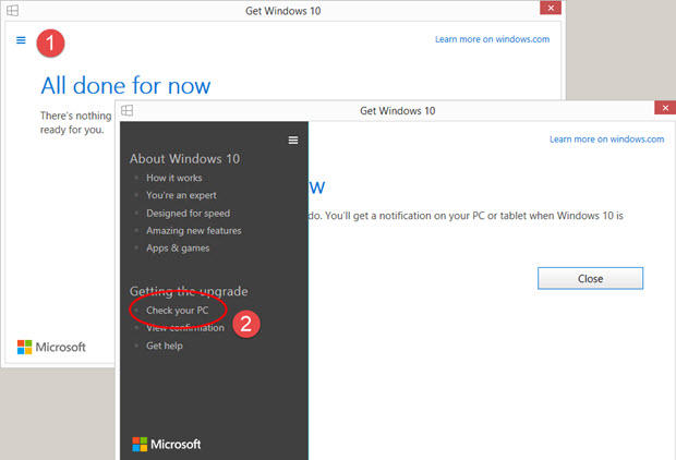 Checking compatibility with Windows 10 2004 update check-windows-10-compat-02a.jpg