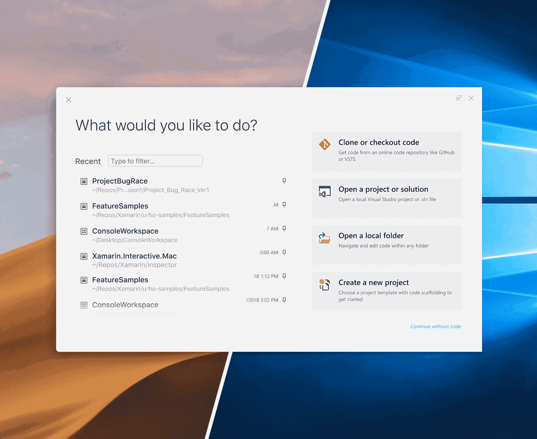 A preview of UX and UI changes in Visual Studio 2019 command-bar-all.png