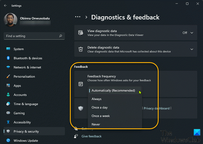 How to configure or change Feedback Frequency in Windows 11 Configure-or-Change-feedback-frequency-Settings-app.png