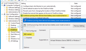 How to make OneDrive continue syncing when Battery Saver Mode is turned on continue-syncing-onedrive-file-when-battery-saver-mode-turned-on-300x177.png