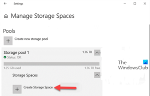 How to Create Storage Space for Storage Pool in Windows 10 Create-Storage-Space-for-Storage-Pool-via-Settings-app-300x193.png