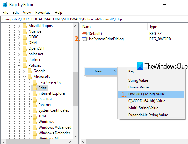 Enable System Print Dialog in Microsoft Edge in Windows 10 create-UseSystemPrintDialog-DWORD-value.png