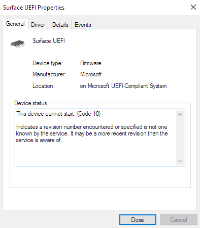 How do I disable UEFI on Microsoft Surface Pro 4 ? cYbZj.png