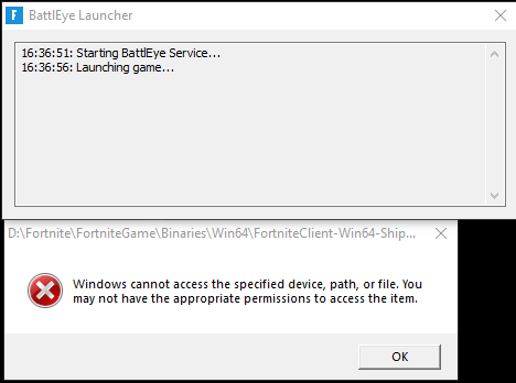 Windows cannot access the specified device, path, or file. You may not have the appropriate... d18e3074-5f30-4896-b88a-4d85be2b9fae?upload=true.png