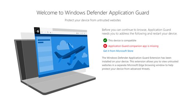 Windows Defender Application Guard extensions for Chrome and Firefox d3b6e10b0daca58cd5f115fff0c2a0f4.png