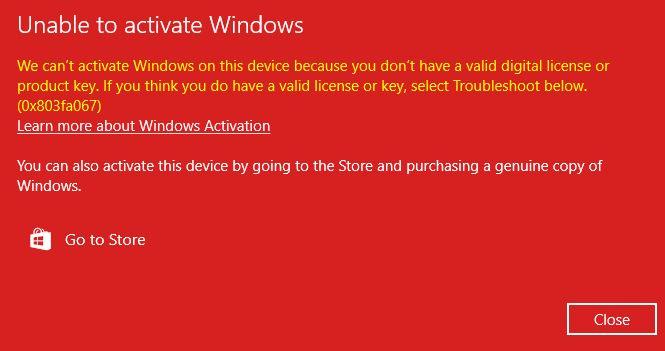 Reactivating Windows 10 after a hardware change, error 0xC004F025 & 0x803fa067 d3c2e4a5-83a9-4aec-a634-62aae2cfdec9?upload=true.jpg