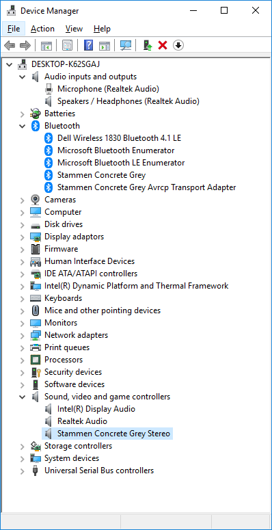 Windows 10 Bluetooth connects to speakers but no sound (Sound occasionally comes in for a... d4Fvh.png