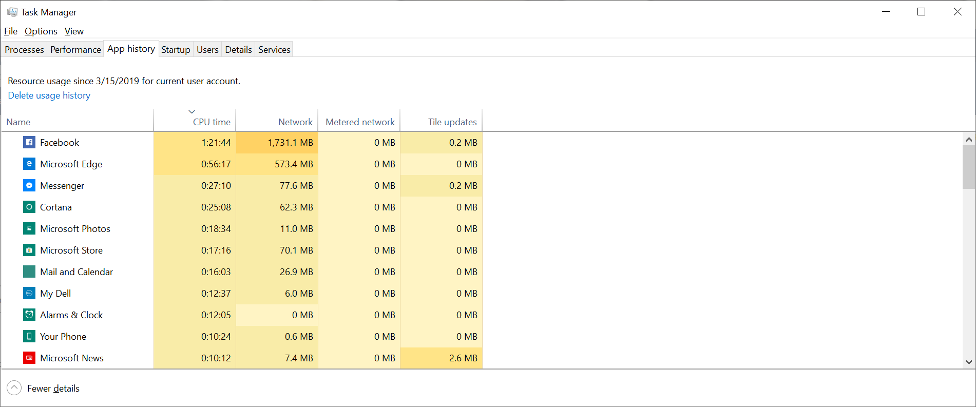 Ridiculous amount of CPU used by Microsoft Photos and Store d65bb38e-3be4-4498-ac8f-3b868363f04b?upload=true.png