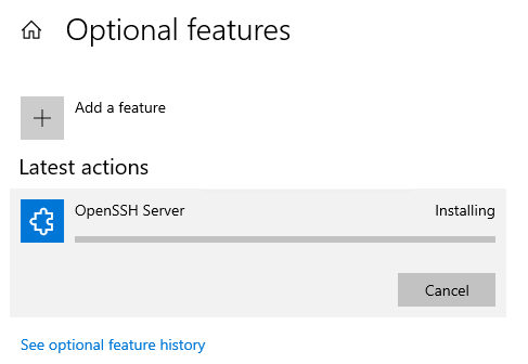 OpenSSH Server install is stuck d8be8785-eea1-40cb-b357-fdca2677a9ed?upload=true.png