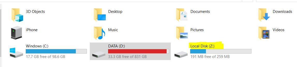 I've hidden the system drive letter in Windows 10 but the pest always comes back d982453a-33af-44a6-be70-b46ec177c19b?upload=true.jpg