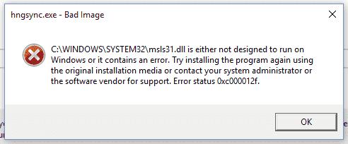 msls31.dll error dbda5bc0-232a-40ad-8eea-48207e2c42bd.png