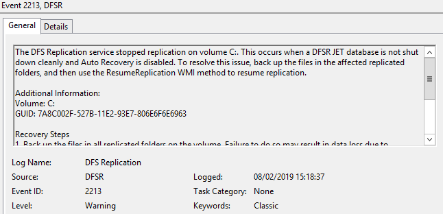 Fix: Missing Sysvol and Netlogon after domain controller promotion dfsr_1.png