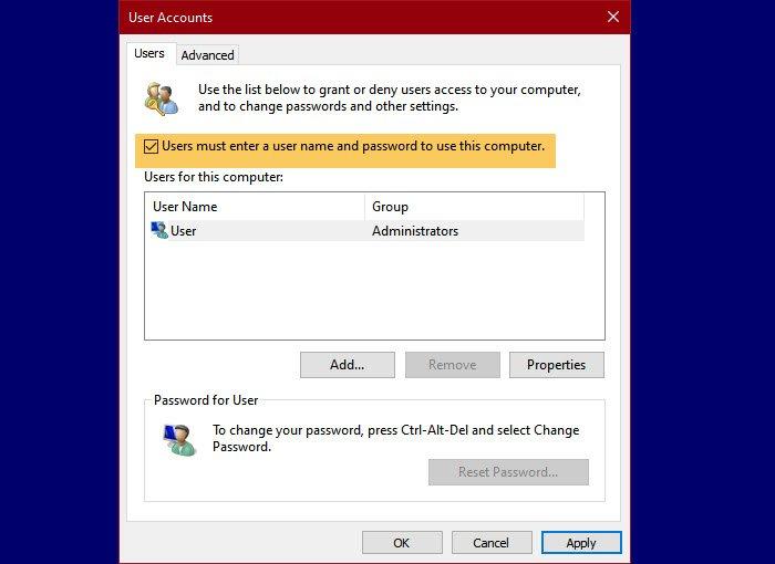 Fix Duplicate username at Login or Sign In screen in Windows 10 disable-autologin.jpg