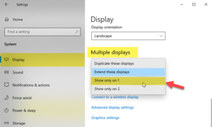 How to change from Dual monitor to Single in Windows 10 disable-one-monitor-in-dual-monitor-setup-300x180.png