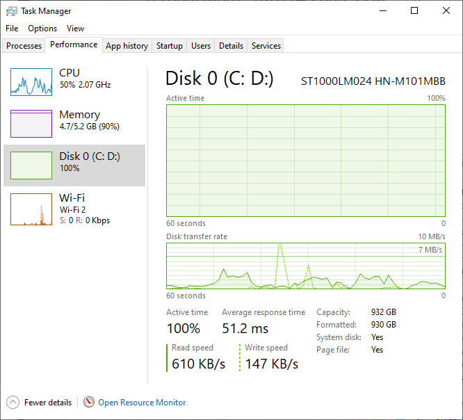 100% disk utilisation with Windows 10 - e160f38a-5af4-4902-9e6a-5e31582fac70?upload=true.png