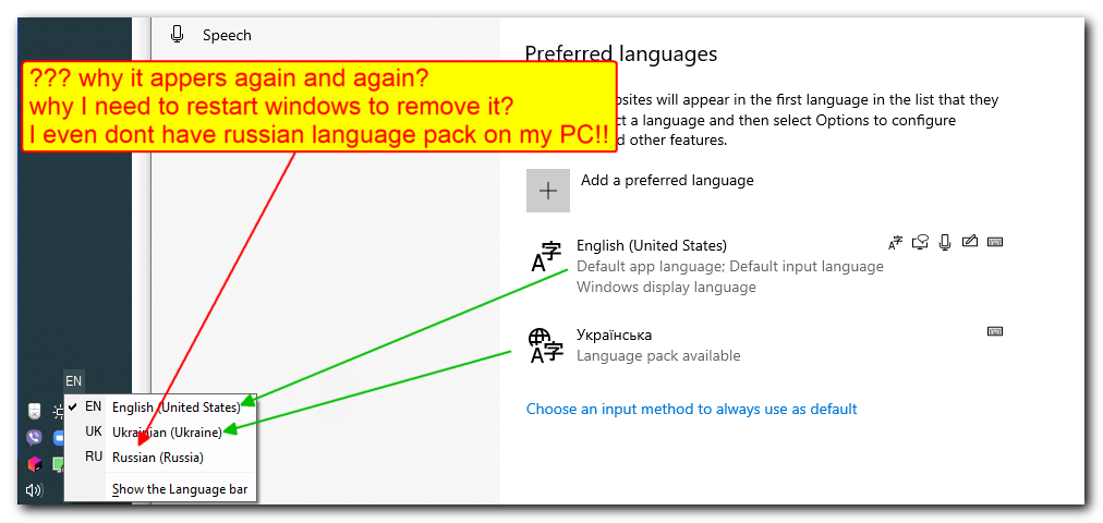 When bug with annoynig additional language in language bar will be fixed? e20be40b-5c02-4264-b8f2-2a3a649753aa?upload=true.png