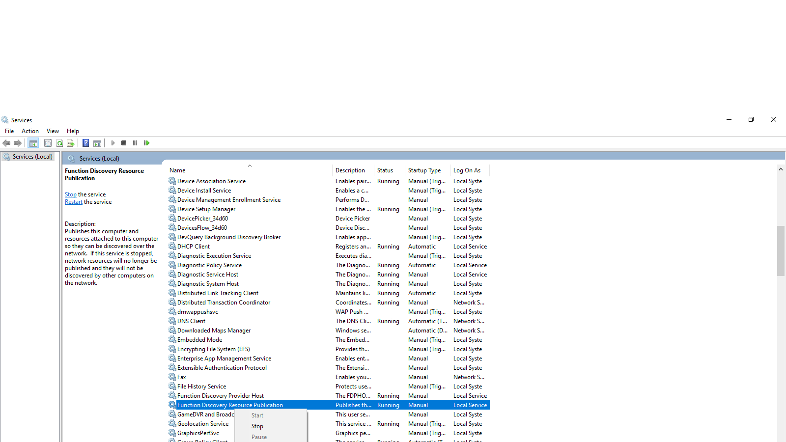 How can I start function resource discovery publication in Windows? e27915bd-ae68-4f9b-bfbc-60b8aa472307?upload=true.png