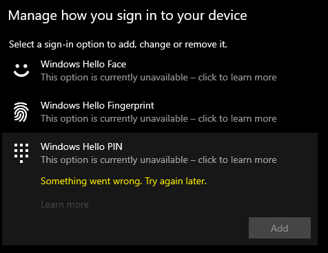 Configure Windows Hello PIN. e38d727d-7c5b-4d68-b41c-566bda835ea8?upload=true.png