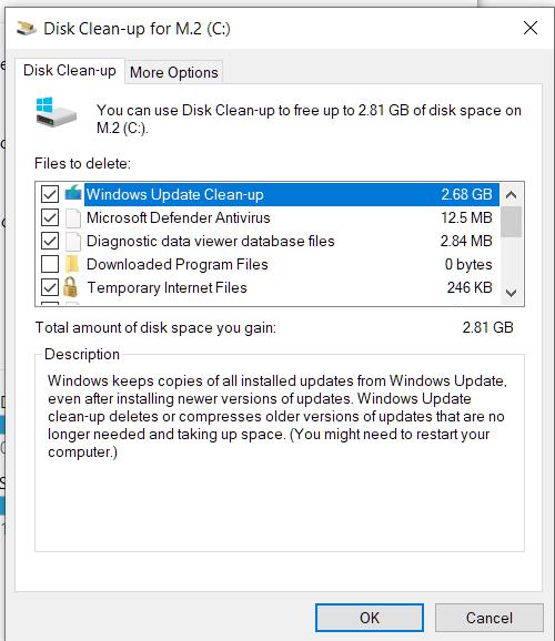 "cleanmgr no longer removes ""windows Update Clean-up"" files in w10 2004 OS build 19041.423 e3d39add-2345-457a-a7fa-cab908ea5dcb?upload=true.png"