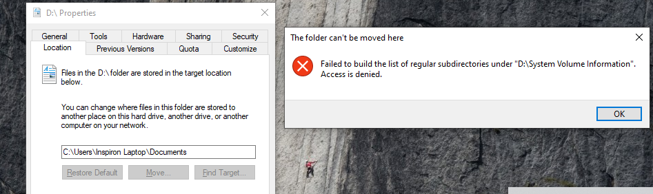 Can't Move Documents Folder From C to D Drive e3fe39b9-b058-464c-bfaf-64c8edc8131a?upload=true.png