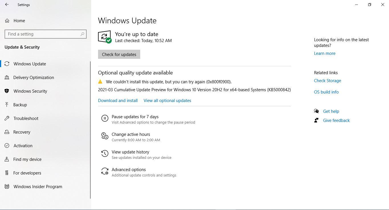 Windows Update: 2021-03 Cumulative Update Preview for Windows 10 Version 20H2 for x64-based... e493647b-b869-442f-bc52-79ba510ecd2b?upload=true.jpg