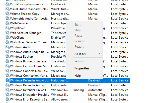 Cannot start any services e6450c80-a3ba-4511-94f7-cb15953031db?upload=true.png